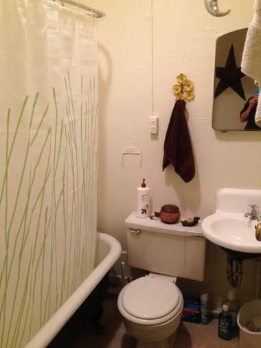 Our tiny bathroom