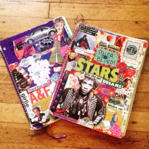 My sweet notebooks from high school. My friends and I would pass this around between classes.